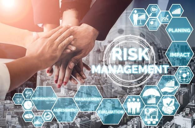 Risikomanagement und bewertung für das geschäftsinvestitionskonzept.