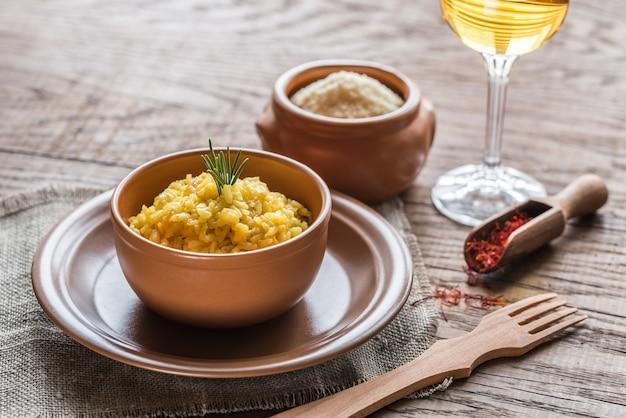 Risotto mit safran und parmesan