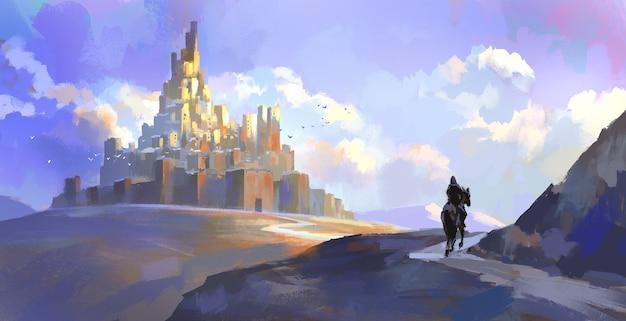 Ritter der mittelalterlichen burg