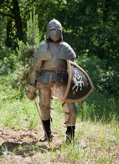 Ritter in rüstung