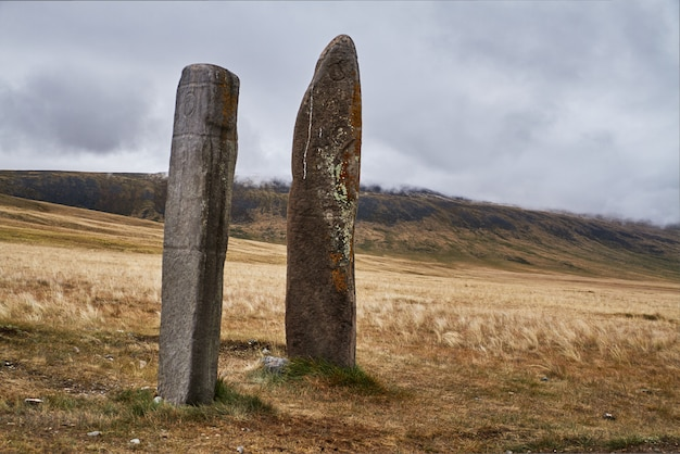 Ritualsteine für opfer an die götter altai