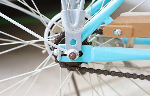 Ritzel des hinterrads des fahrrades