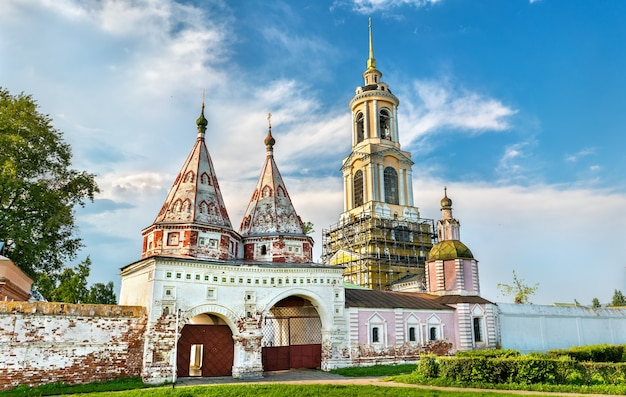 Rizopolozhensky-kloster in der region susdal-wladimir, dem goldenen ring russlands