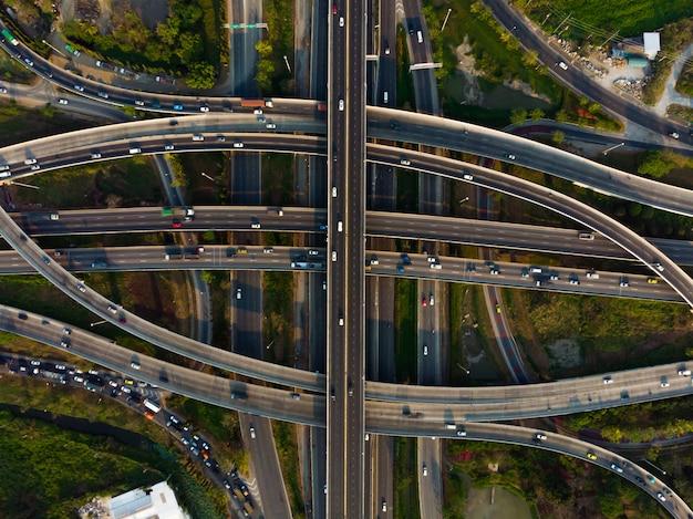 Road of expressway draufsicht, straßenverkehr eine wichtige infrastruktur
