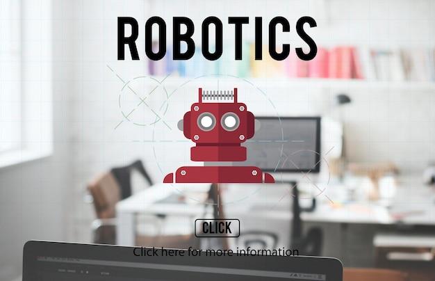 Roboter cyborg ai robotics android-konzept