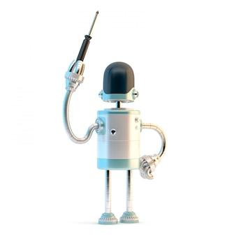 Roboter mit schraubenzieher