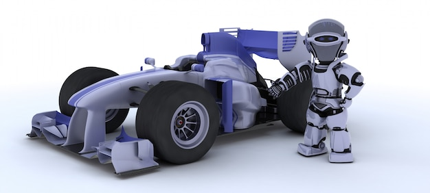 Roboter und ein auto