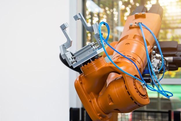 Roboterarm oder robotik-cnc-automatisierungshandhabungssystem.