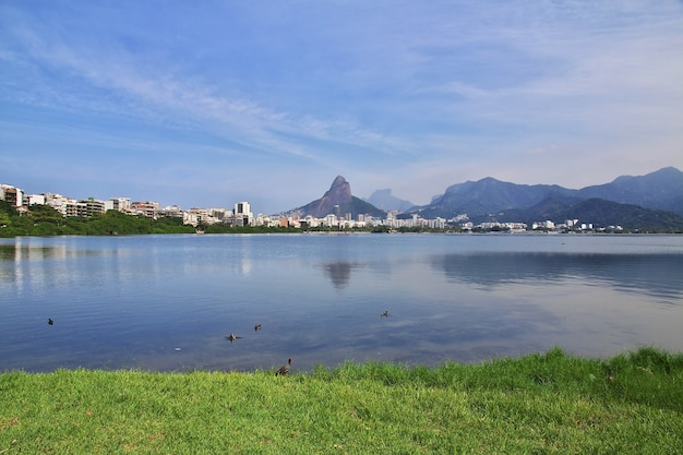 Rodrigo de freitas lagune in rio de janeiro, brasilien