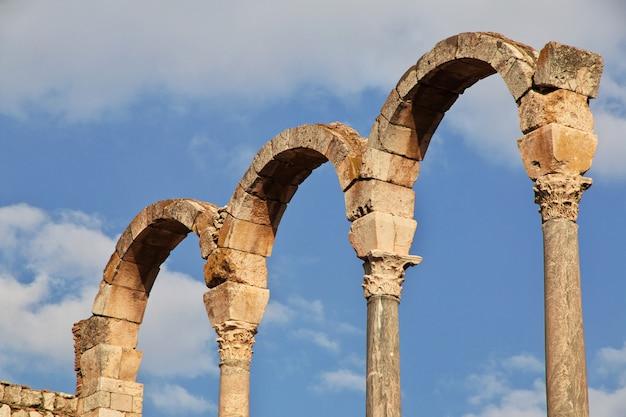 Römische ruinen in anjar, libanon