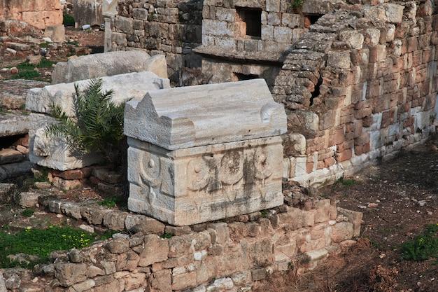 Römische ruinen in tyrus (sour), libanon