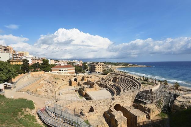 Römisches amphitheater in tarragona, katalonien, spanien