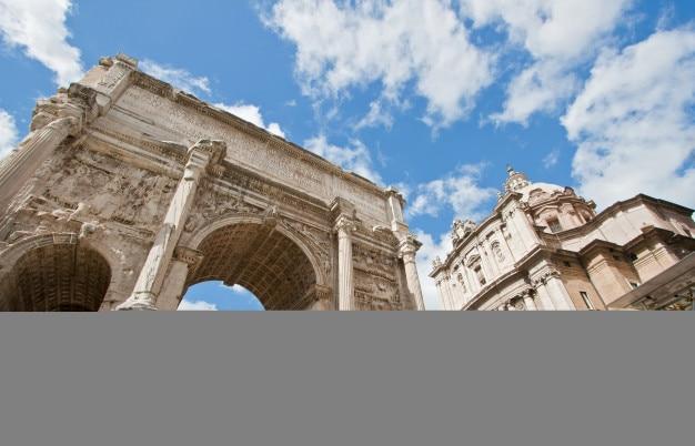 Römisches forum ruinieren