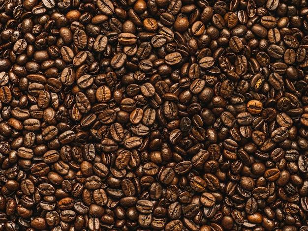 Röstkaffeebohnen hintergrund