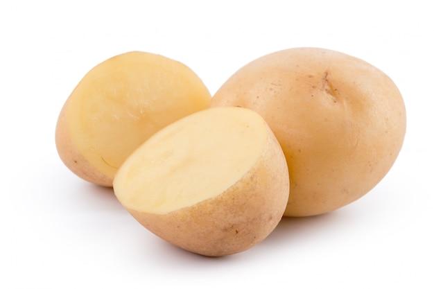 Rohe gelbe kartoffel getrennt
