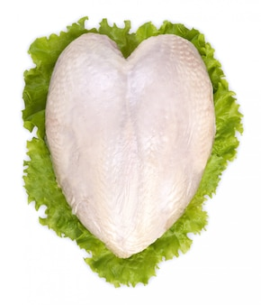 Rohe hühnerbrust