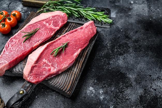 Rohe lendenstückkappe oder picanha-steak