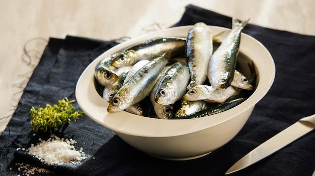 Rohe sardinen