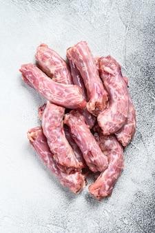 Rohes frisches hühnerhalsfleisch
