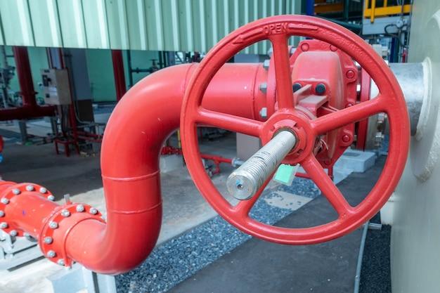 Rohrleitung und ventil der wasserversorgung oder des brauchwassers in der industriezone