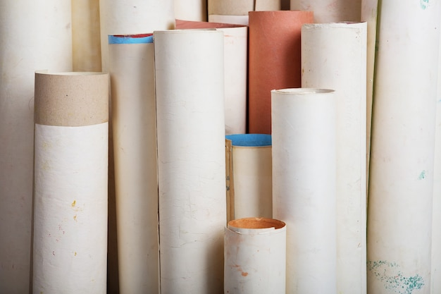 Rollen der alten papierstruktur