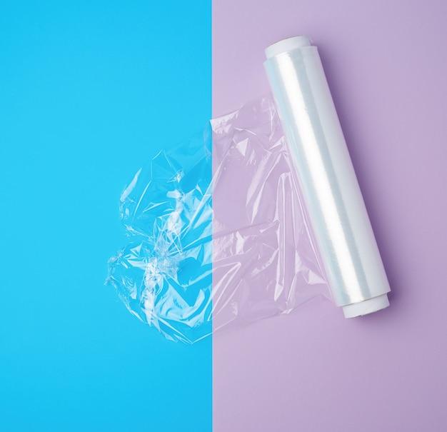 Rollen sie mit transparentem polyethylen
