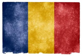 Romania grunge flag nation