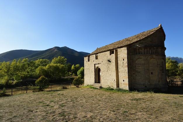 Romanische und mozarabische kirche san juan de busa route der romanischen kirchen der provinz serrablo huesca aragonien spanien