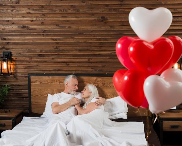 Romantische atmosphäre am valentinstag