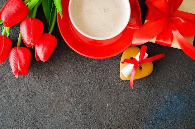 Romantische komposition für valentinstag, geburtstag oder muttertag.