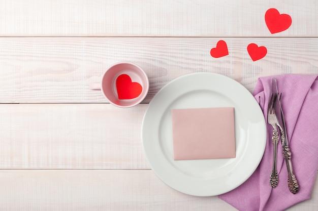 Romantische kulisse zum valentinstag