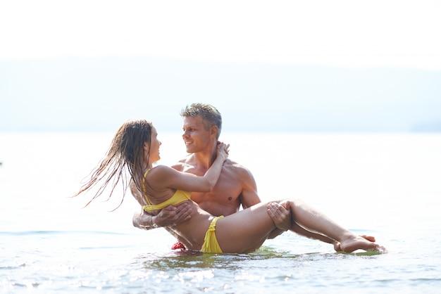 Romantische tag am strand