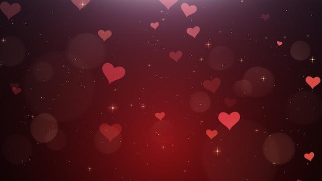Romantischer hintergrund der roten herzen