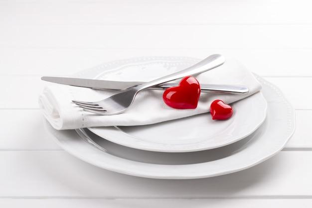 Romantisches gedeck