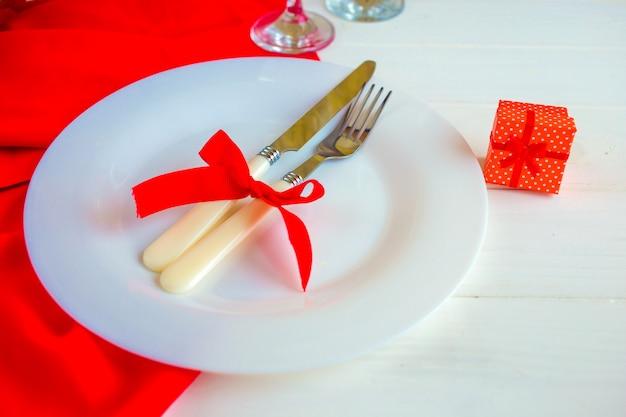 Romantisches valentine dinner