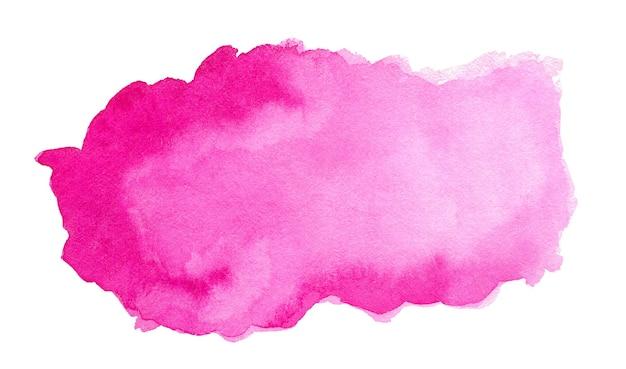 Rosa abstrakter aquarellspritzer auf weißem hintergrund