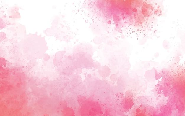 Rosa aquarell auf weißer hintergrundillustration