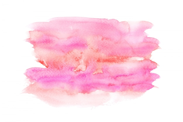 Rosa aquarellfleck-farbenanschlaghintergrund