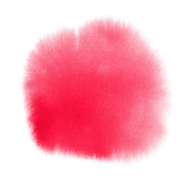 Rosa aquarellfleck mit wäsche. aquarellbeschaffenheit für valentinstag oder hochzeit