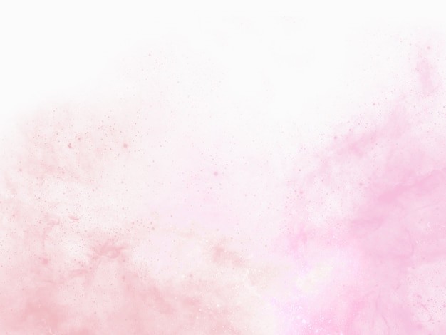 Rosa aquarellhintergrundmalerei mit abstrakten fransen und blutenden farbtropfen und -tropfen
