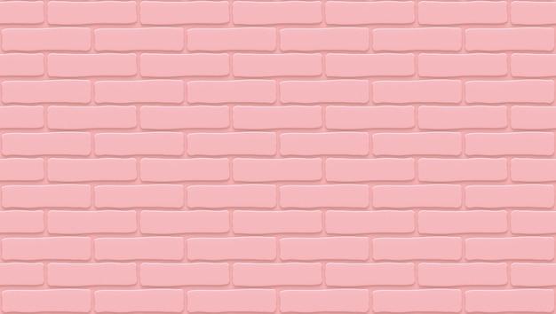 Rosa backsteinmauerbeschaffenheit. leerer hintergrund. vintage steinmauer.