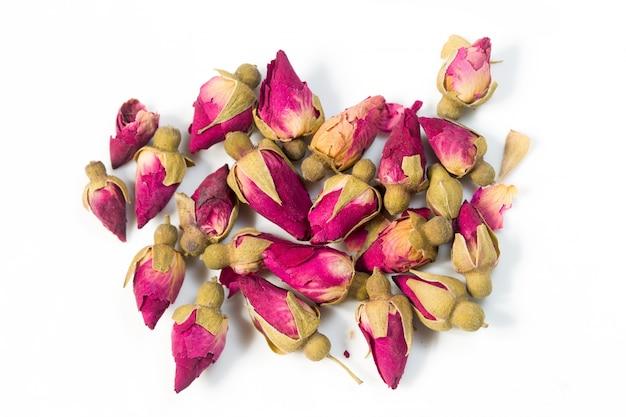 Rosa blüten draufsicht