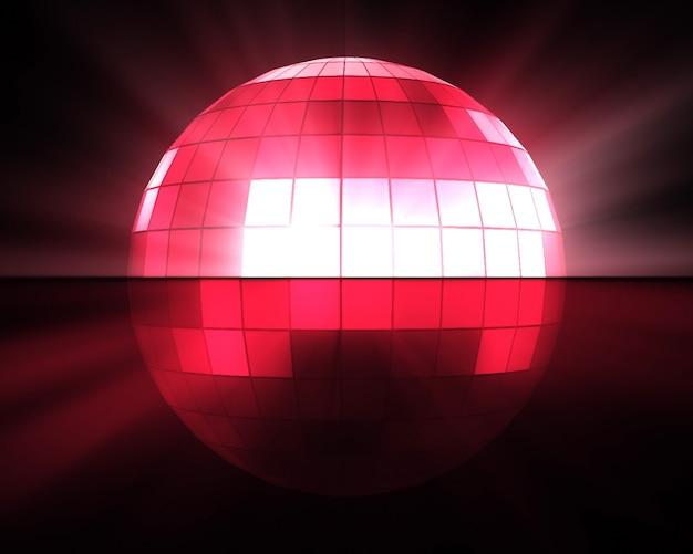 Rosa discokugel