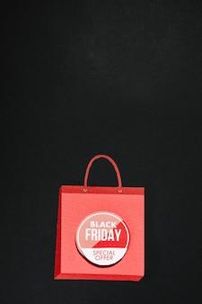 Rosa einkaufstasche mit black friday angebot