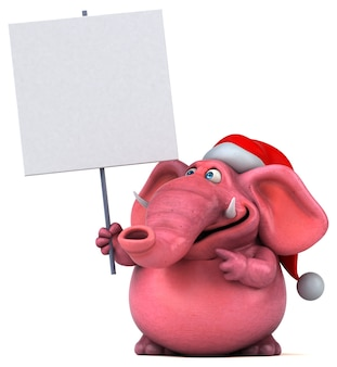 Rosa elefant 3d-illustration
