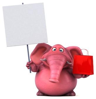 Rosa elefant - 3d-illustration