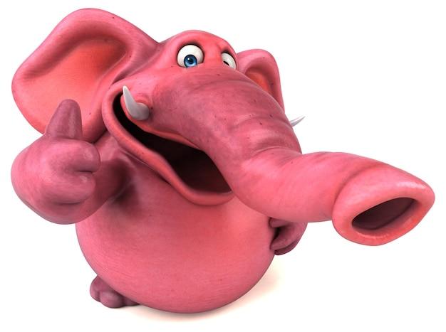 Rosa elefantenanimation