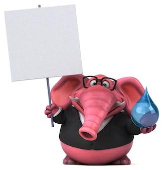 Rosa elefantenillustration
