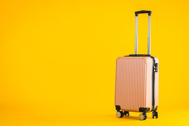 Rosa farbe gepäck oder gepäcktasche verwendung für transportreisen