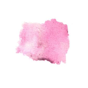 Rosa fleck auf weißem papier